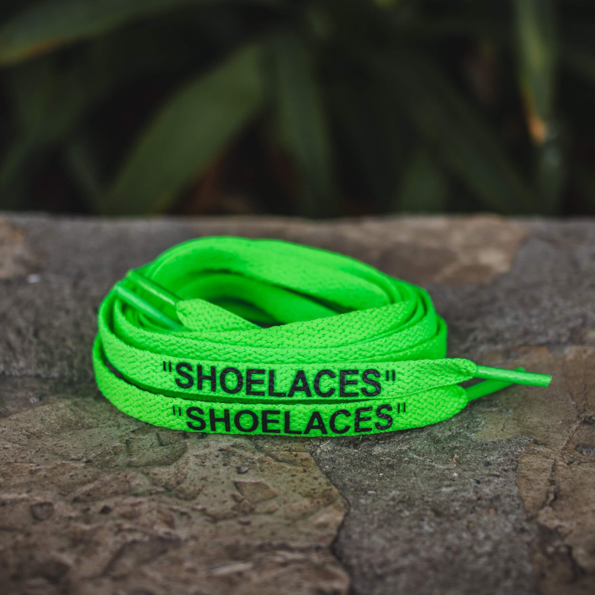 Neon Green Off-White SHOELACES