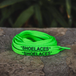 Off-White Replacement Shoe Laces - Neon Green - By Lace Lab - $4.99