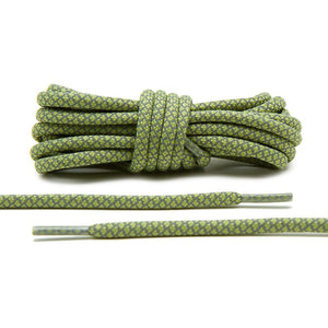 Olive 3M Reflective Rope Laces