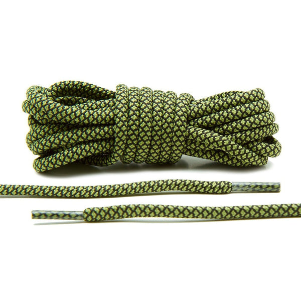 Olive/Black Rope Laces