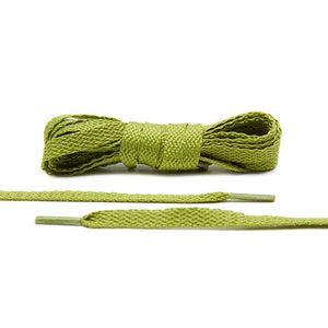 Lace Lab Olive Flat Shoelaces