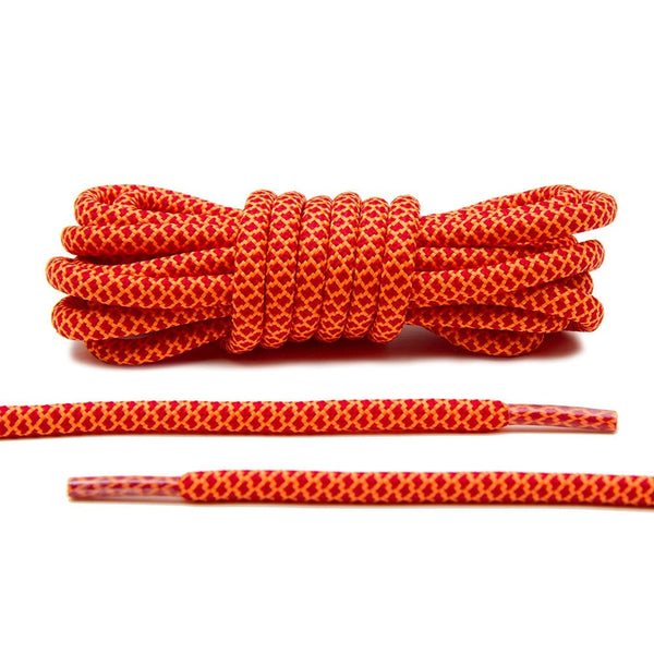 Lace Lab makes the hottest Rope Laces in the game. These Red and Orange laces are guaranteed to be an eye catcher!