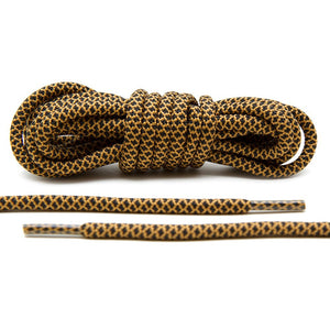Black/Tan Rope Laces