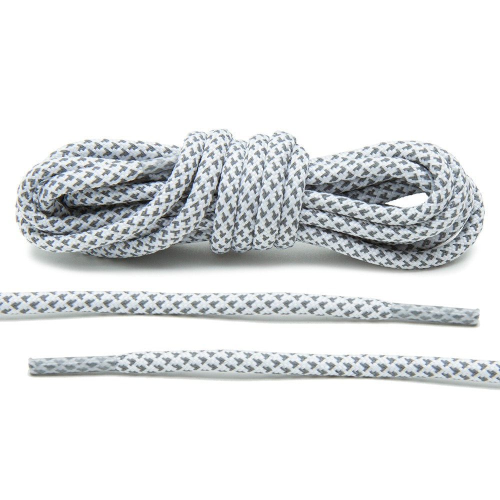 White 3M Reflective Rope Laces