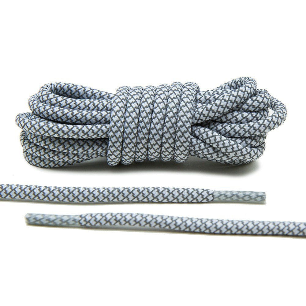 White 3M Reflective Rope Laces   3M