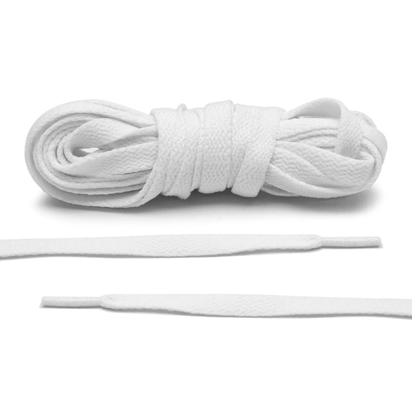 White Jordan 1 Replacement Shoelaces by Lace  - Only $4.95 / pair