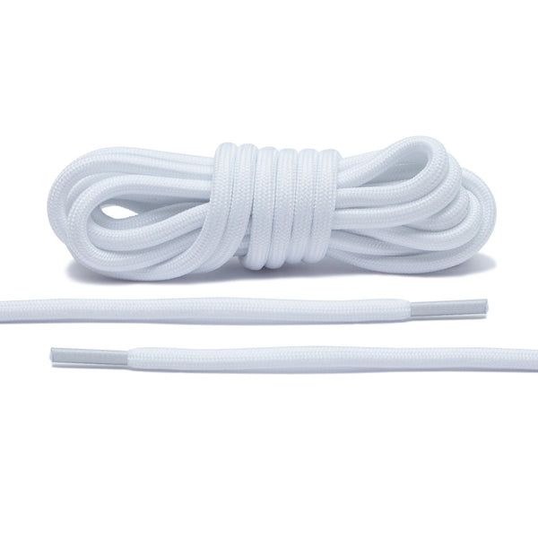 Solid White Rope Laces - Perfect replacement for most sneakers!