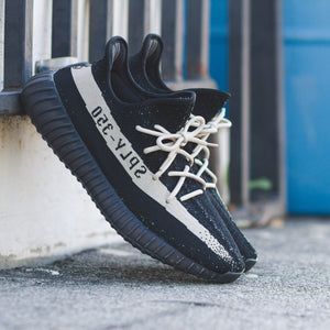 "Yeezy 350 Boost v2 Oreo lace swap using our 45"" Beige Rope Laces. Only $5.95 per pair!"