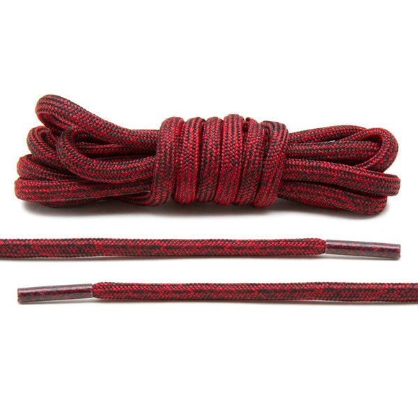 Black/Red Multi-Color Rope Laces