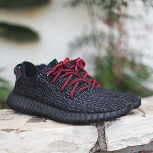 Black/Red Rope Laces