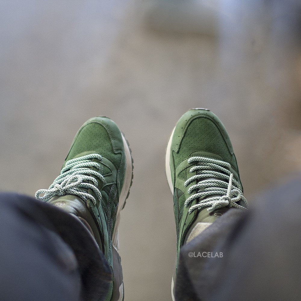 Green/White Rope Laces   Green Rope