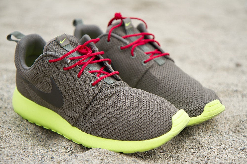 new concept 718cf 3fbe9 Make your neutral colored Roshe s pop with Lace Lab s premium Red Roshe-Style  Laces.