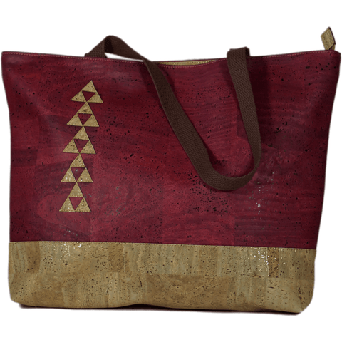 Cork Hapai - Burgundy - Handmade Vegan Cork Fabric Bags