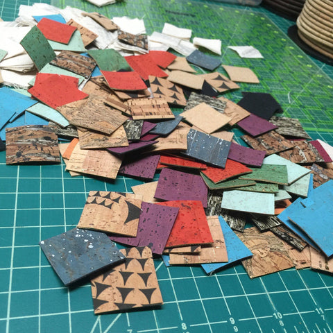 1 pound of Cork scraps pack - Handmade Vegan Cork Fabric Bags