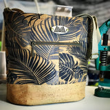 Pakeke - Monsteria and Fronds - Handmade Vegan Cork Fabric Bags