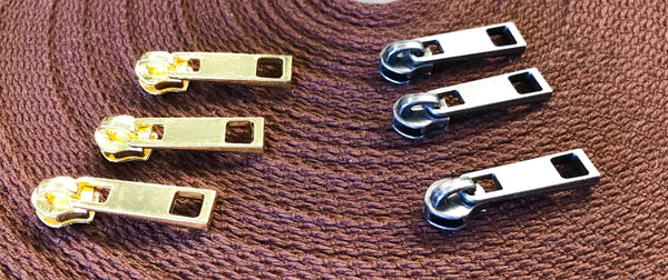 Bulk Zipper Pulls - Set of 50 - Handmade Vegan Cork Fabric Bags
