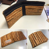 Kane Men's Wallet - Handmade Vegan Cork Fabric Bags