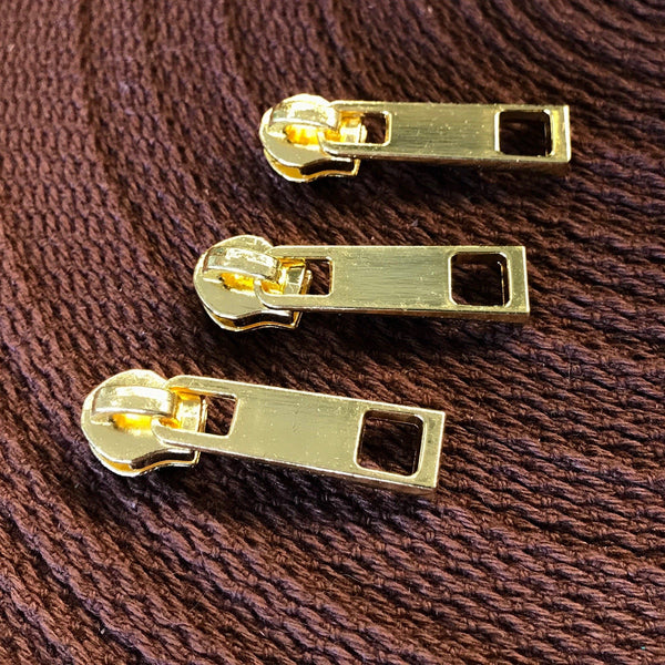 #5 Zipper Pull - Gold (set of 6)