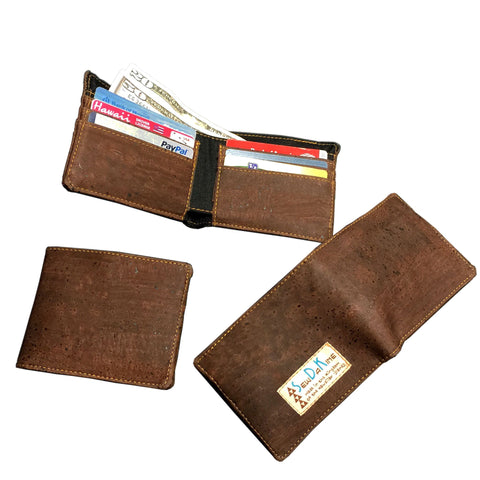 Kane Men's Wallet - Handmade Cork Fabric Bags