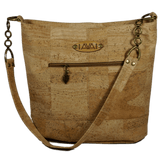 2 color Pakeke - With Cork strap - Handmade Vegan Cork Fabric Bags
