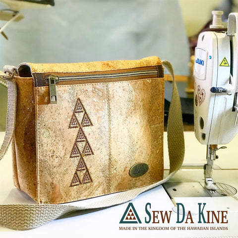 Makamae Cross Body Bag - Handmade Vegan Cork Fabric Bags