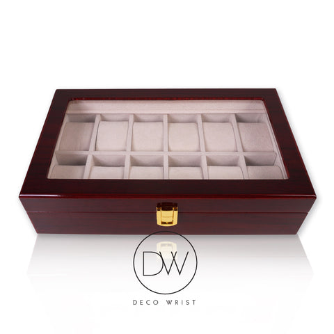 Elegant Real Wood Watch Box Display Cases at DecoWrist.com
