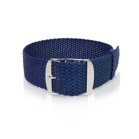 Perlon Strap Blue Color - 22 mm by decowrist.com