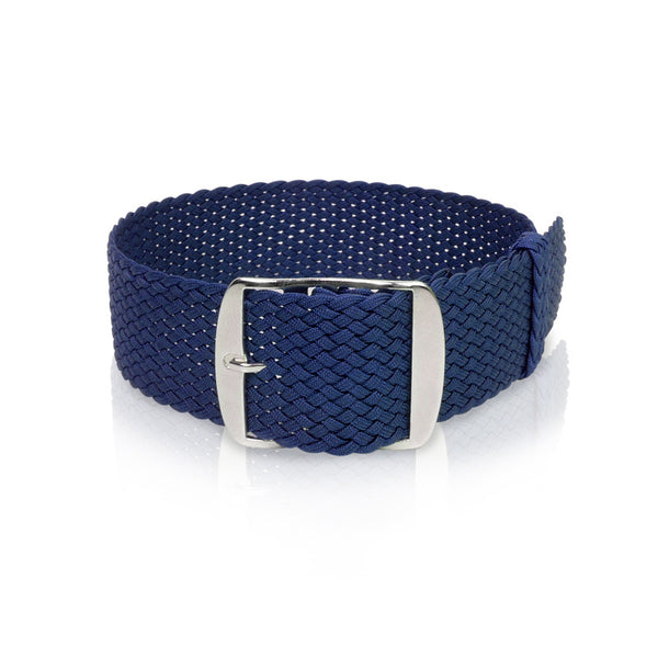 Perlon Strap Blue Color - 18mm, 20mm by decowrist.com
