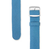 Perlon Strap Light Blue Color 18mm / 20mm by decowrist.com