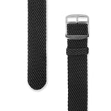 Perlon Strap Black Color 22 mm by decowrist.com