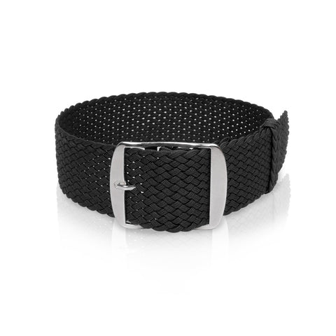 Perlon Strap Black Color 24 mm by decowrist.com