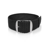 Perlon Strap Black Color 18mm 20mm by decowrist.com