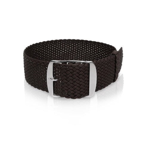 Perlon Strap Dark Brown 20mm by decowrist.com