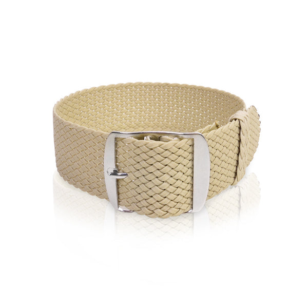 Perlon Strap Beige Color 20mm by decowrist.com