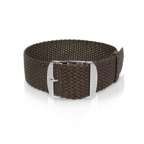 Perlon Strap Brown 24 mm by decowrist.com