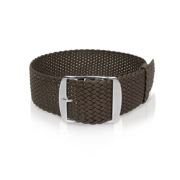 Perlon Strap Brown 18mm,  20mm by decowrist.com