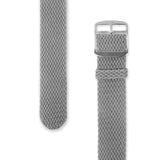 Perlon Strap Grey Color 24 mm by decowrist.com
