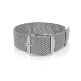Perlon Strap Grey Color 22 mm by decowrist.com