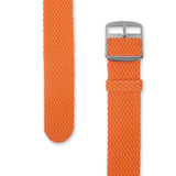 Perlon Strap Orange Color 22 mm by decowrist.com