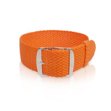 Perlon Strap Orange Color 20mm by decowrist.com
