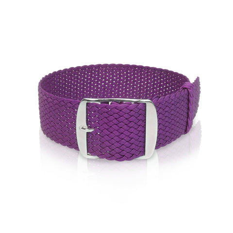 Perlon Strap Purple Color 18mm / 20mm by decowrist.com