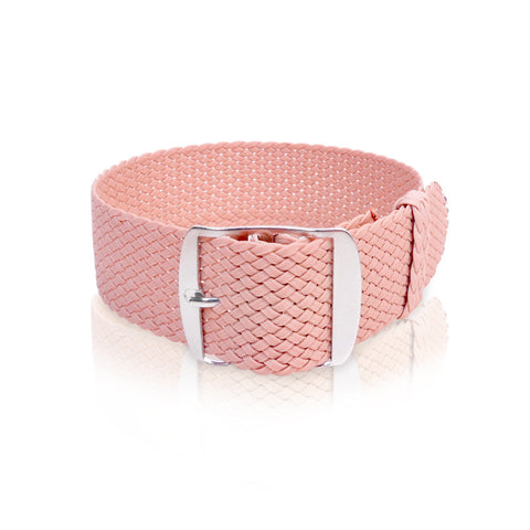Perlon Strap Pink Color 22 mm by decowrist.com