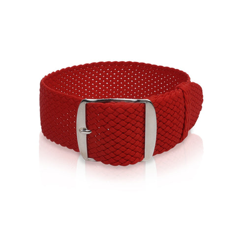 Perlon Strap Red Color 22mm by decowrist.com