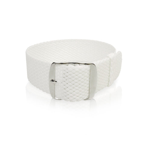 Perlon Strap White Color 24 mm by decowrist.com
