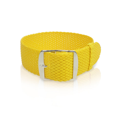 Perlon Strap | Yellow 22 mm Straps - Decowrist
