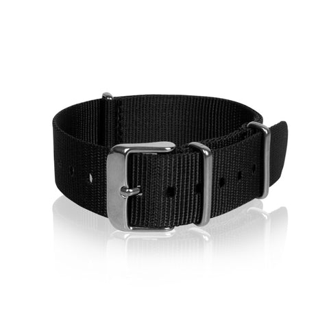 Nato Strap 18mm 20mm 22mm - Black Color by Decowrist.com