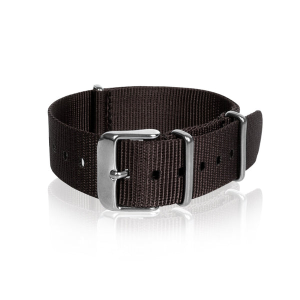 Nato Strap 18mm 20mm 22mm - Brown Color by Decowrist.com