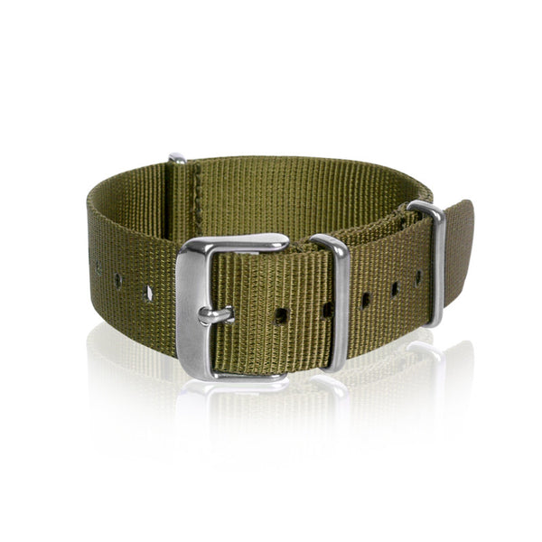 Nato Strap 18mm 20mm 22mm - Grass Green Color by Decowrist.com
