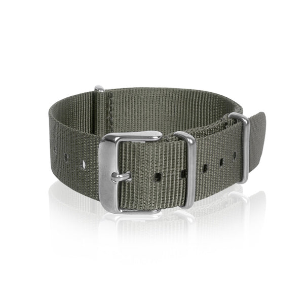 Nato Strap Grey Color 18mm 20mm 22mm by Decowrist.com