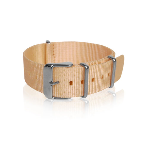 Nato Strap Beige Color 18mm 20mm 22mm by Decowrist.com